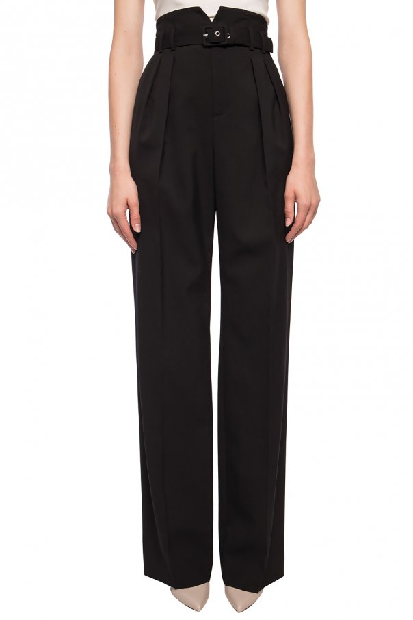 Straight leg pleat-front trousers od Red Valentino