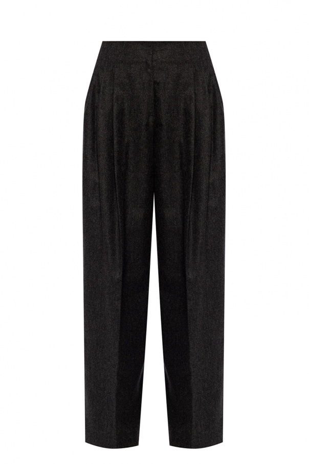 Agnona Wide-legged pleat trousers