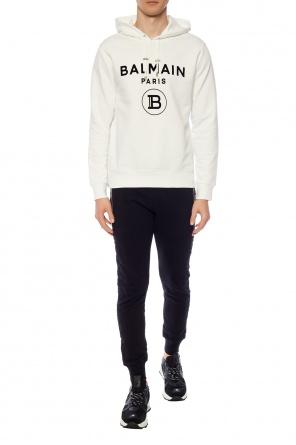 Logo-embossed sweatpants od Balmain