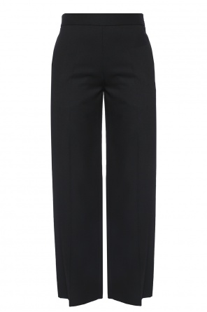 Wide leg pleat-front trousers od Victoria Beckham