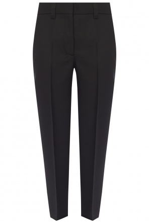 High-waisted pleat-front trousers od Acne