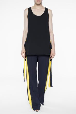 Side-stripe pleat-front trousers od Victoria Victoria Beckham