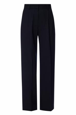 Wide legged pleat-front trousers od Victoria Victoria Beckham
