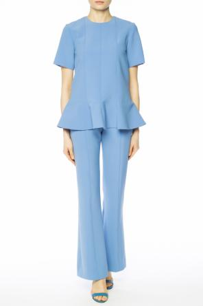Pleat-front flared trousers od Victoria Victoria Beckham