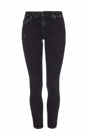 Type-161c' jeans with tears od Diesel Black Gold