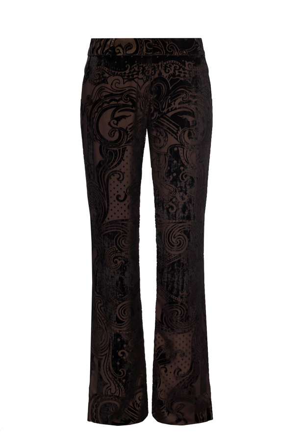 Balmain Patterned pleat-front trousers