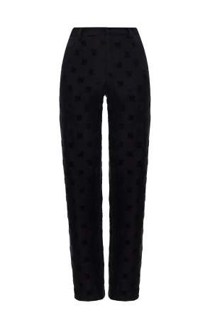 'velour monogram' trousers od MISBHV
