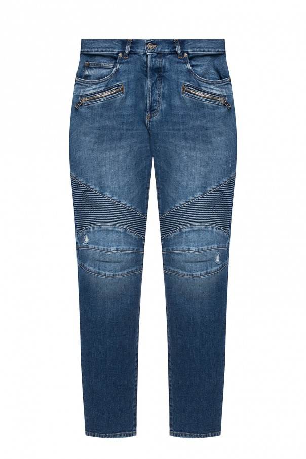 Balmain Raw edge jeans