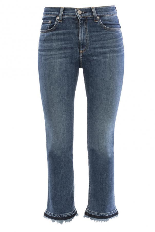 Rag & Bone  Frayed cuff jeans