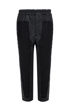 Trousers with a raw finish od Comme des Garcons