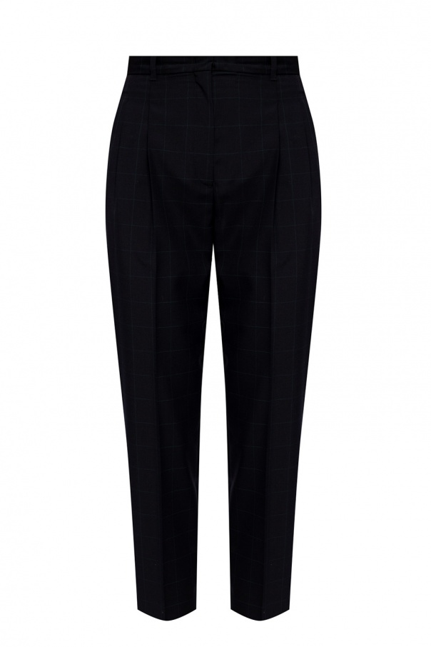 PS Paul Smith Wool pleat-front trousers