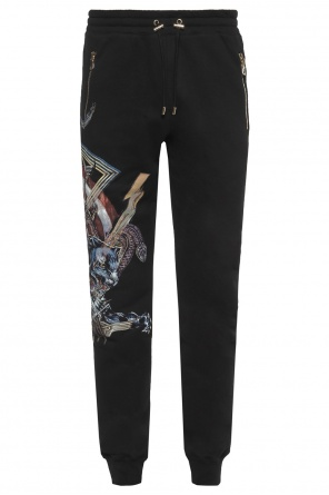 Printed sweatpants od Balmain