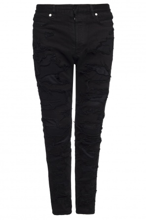 Distressed jeans od Balmain