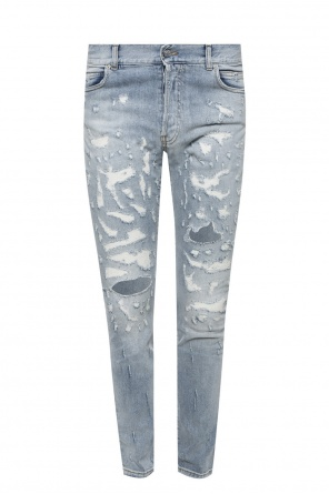 Jeans with stitching od Balmain