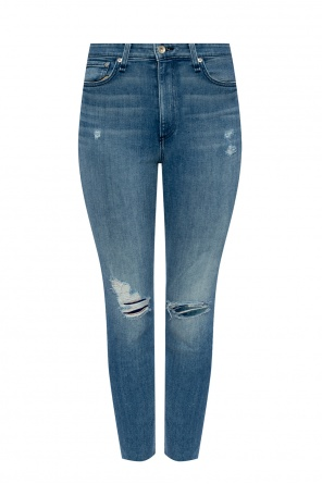 High-rise stonewashed jeans od Rag & Bone