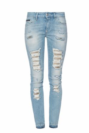 'fix you' jeans with rips od Philipp Plein