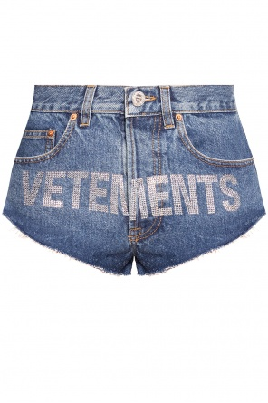 Denim shorts with logo od Vetements
