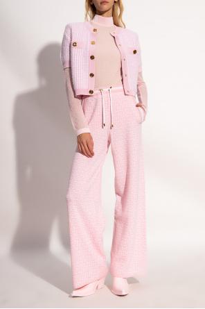 Wool and linen blend trousers od Balmain