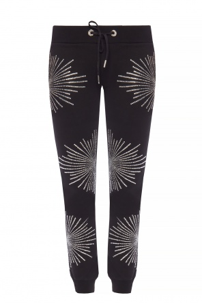 Crystal-embellished sweatpants od Philipp Plein