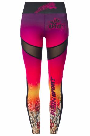 Tiger motif leggings od Plein Sport