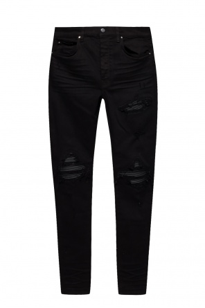 Jeans with ribbed inserts od Amiri