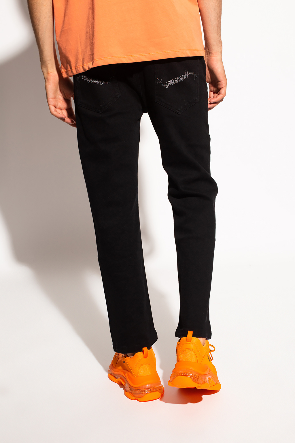 Opening Ceremony Jeans with logo