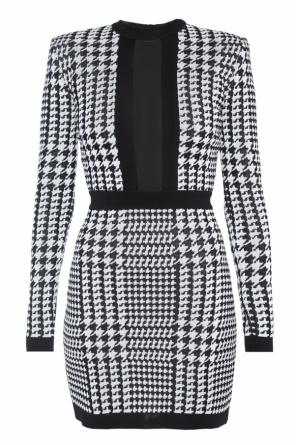 Patterned dress od Balmain