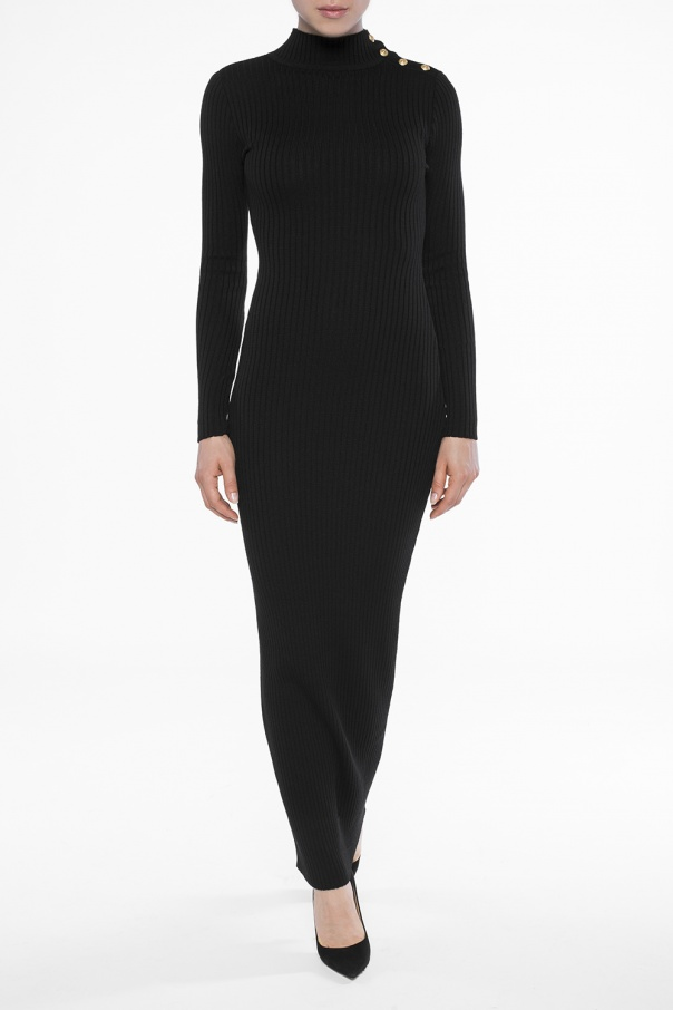 Turtleneck pencil dress od Balmain