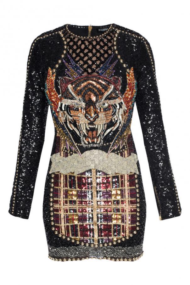 15f73f3bf0 Krótka cekinowa sukienka Balmain - sklep internetowy Vitkac