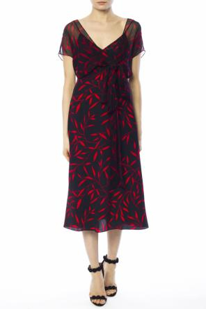 Dress with plant motif od Diane Von Furstenberg