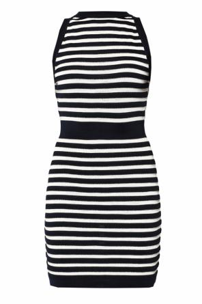 Striped flared dress od Balmain