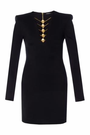 Dress with metal embellishment od Balmain