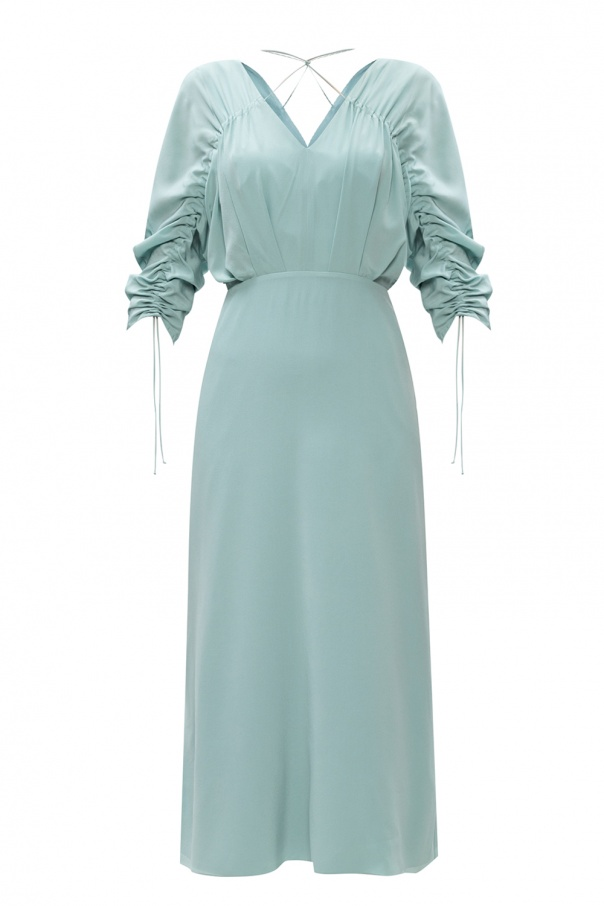 Victoria Beckham 皱褶真丝连衣裙