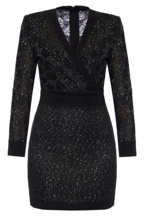 Sequinned dress od Balmain