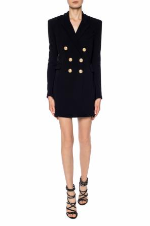 Double-breasted coat dress od Balmain