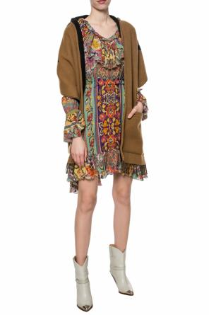 Ruffled silk dress od Etro