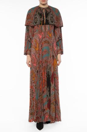Patterned pleated dress od Etro