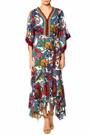 Patterned v-neck dress od Etro