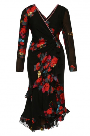 Patterned dress with ruffles od Etro