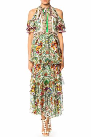 Embroidered floral dress od Etro