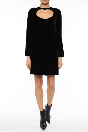 Cut-out detail velvet dress od Chloe