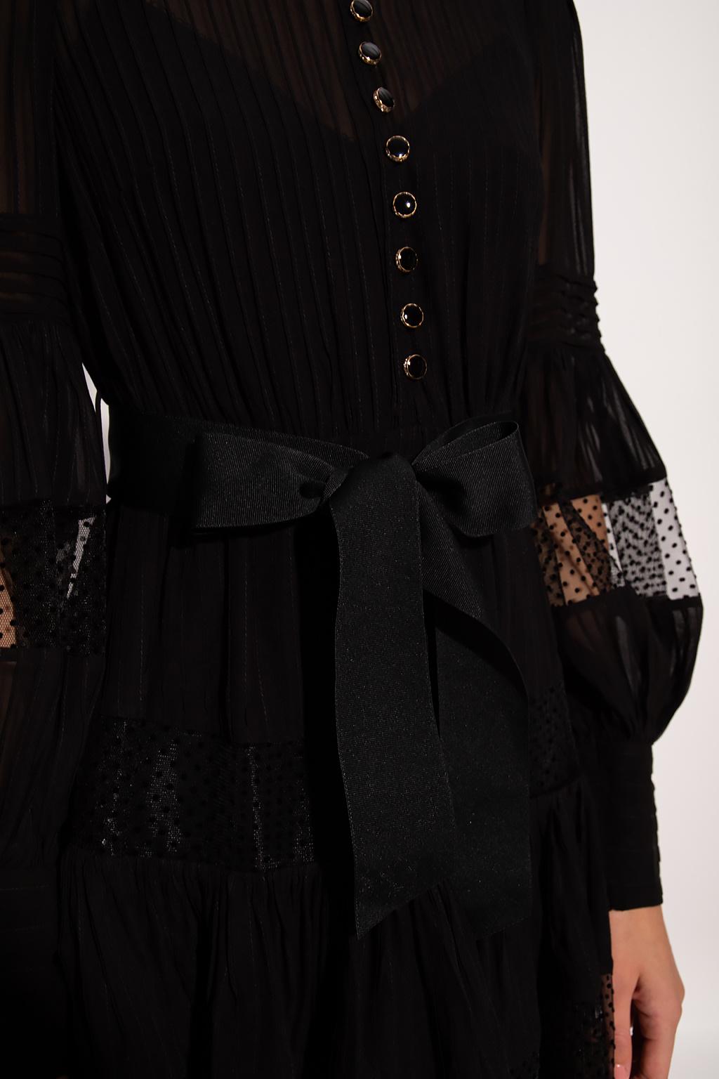 Zimmermann Transparent dress with tie detail