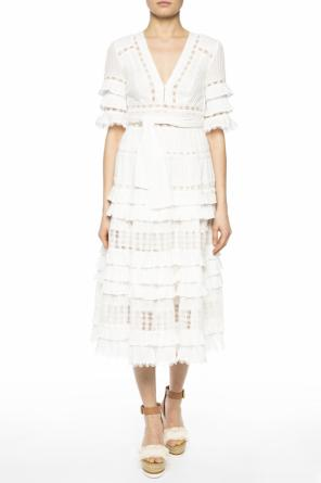 Ruffle flared dress od Zimmermann