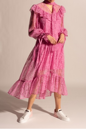 Ruffled lace dress od MSGM