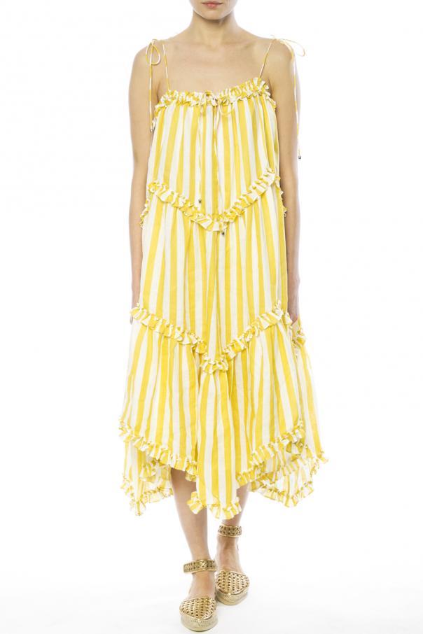 striped dress zimmermann vitkac shop online. Black Bedroom Furniture Sets. Home Design Ideas