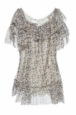 Lacing detail silk dress od Zimmermann