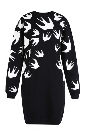 Swallow-printed dress od McQ Alexander McQueen