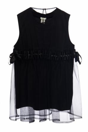 Two-layered sleeveless top od Comme des Garcons Ninomiya