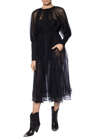 Ruffled sheer dress od Comme des Garcons Ninomiya