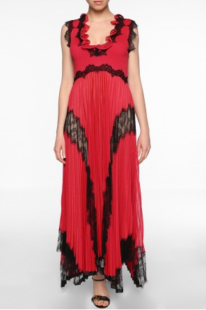 Lace-trimmed long dress od Gucci